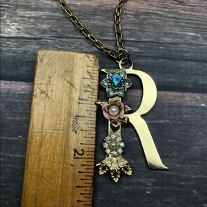 torrid Jewelry - Gold Tone Floral Letter R initial Necklace